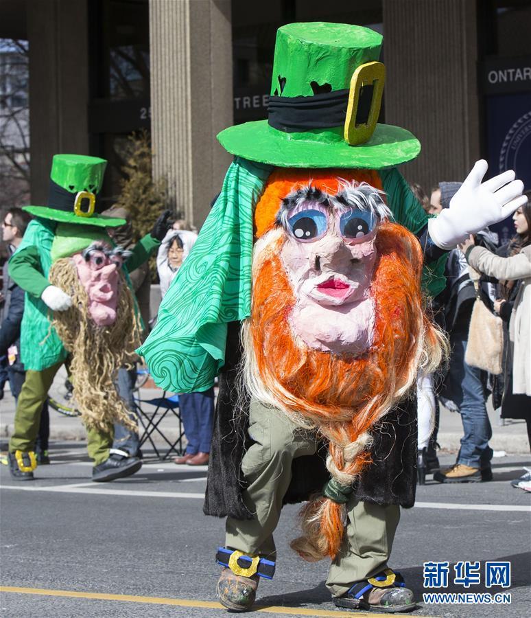 (国际)(5)多伦多举行圣帕特里克节游行