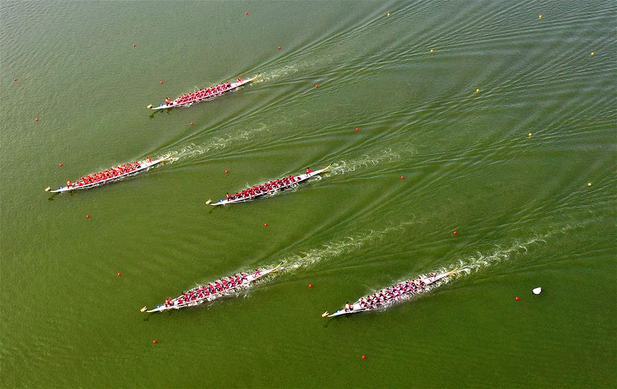 (民族运动会)(1)龙舟——龙舟比赛开赛