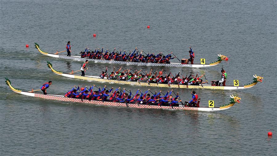 (民族运动会)(4)龙舟——龙舟比赛开赛